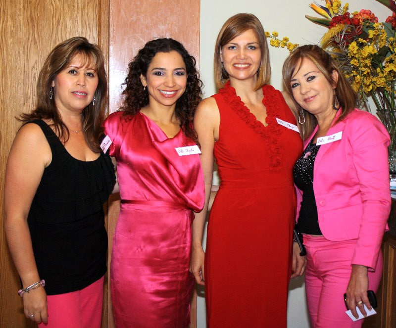 Marina Ruiz, Kayla Escobar, Clara Jaramillo y Caro Tremari
