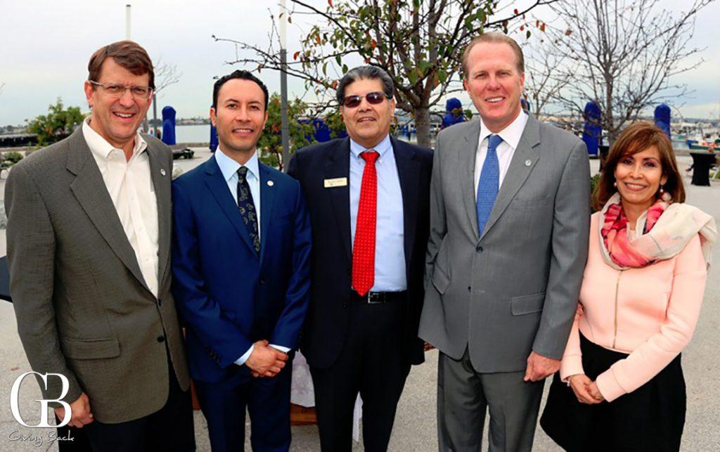 Marshall Merrifield  Rafael Castellanos  Richard Ybarra  Mayor Kevin Faulconer and Consul Remedios Gomez Arnau