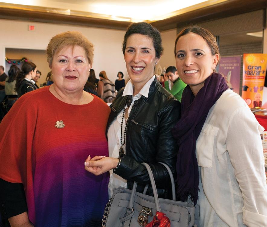 Martha De la Fuente, Marcela Flores y Melania Magoni