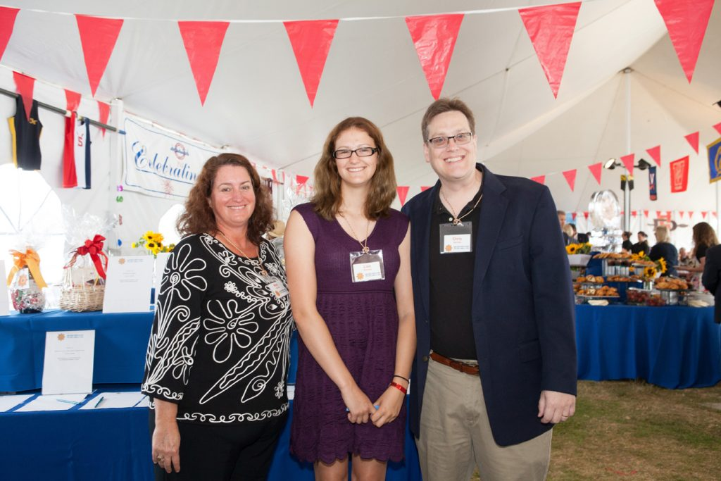 Mary, Lisa and Chris Perrine