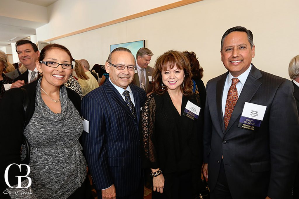 Mary Darling  Ted and Lidia S. Martinez with George Ramirez