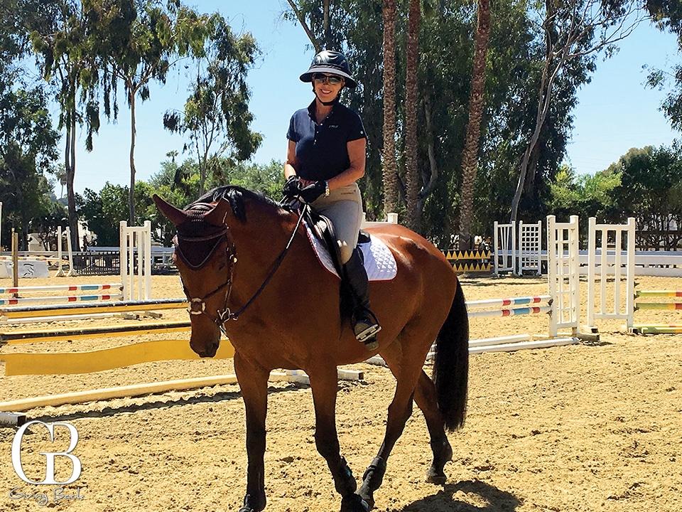 Mary Drake on her horse Kashmir