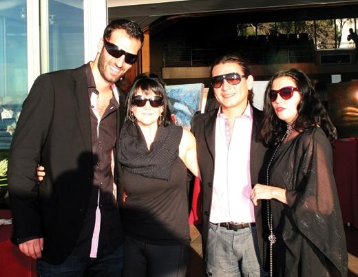 Matt and Max Walrath with Alexander Salazar and Anjela Piccard.JPG
