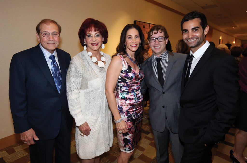 Matthew, Iris and Tamara Strauss with Grant and Brandon Alter.JPG