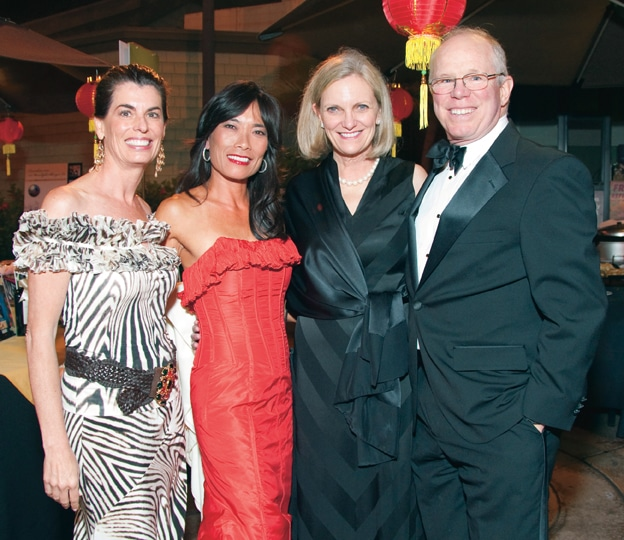 Maureen Bauchman and Jennifer Greenfield with Susan and Peter Mallory