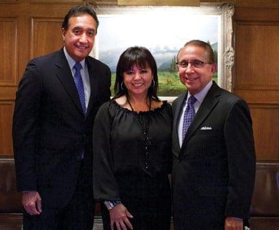 Mayor Henry Cisneros, Lidia Martinez and Mickey Ibarra.JPG