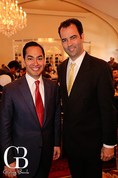 Mayor Julian Castro and Esteban Villanueva