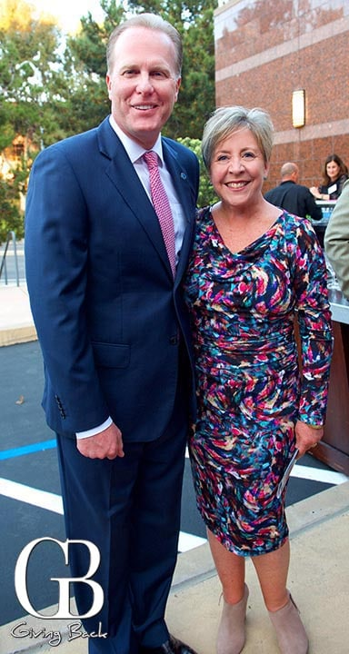 Mayor Kevin Faulconer and Laura Farmer Sherman