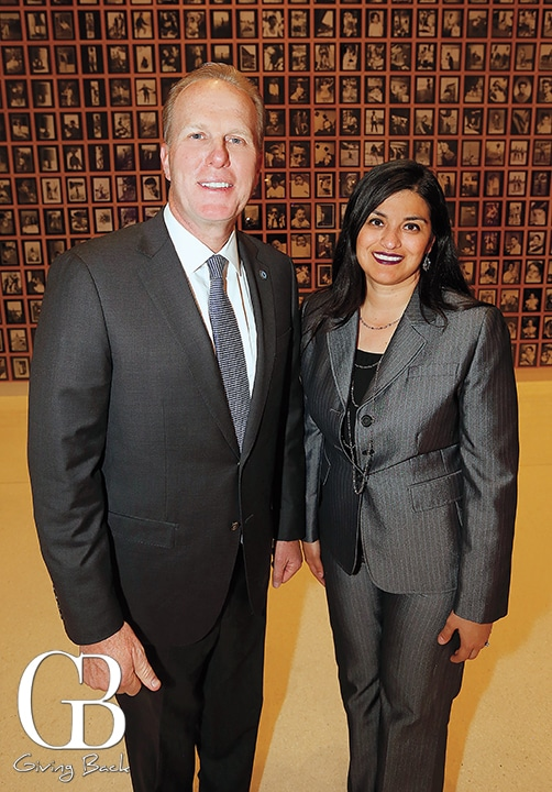 Mayor Kevin Faulconer with Ana Gomez