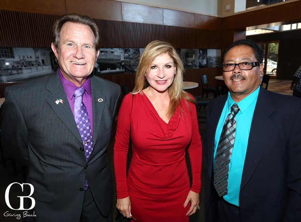 Mayor Ron Morrison  Josie Flores Clark and Councilman Jerry Cano