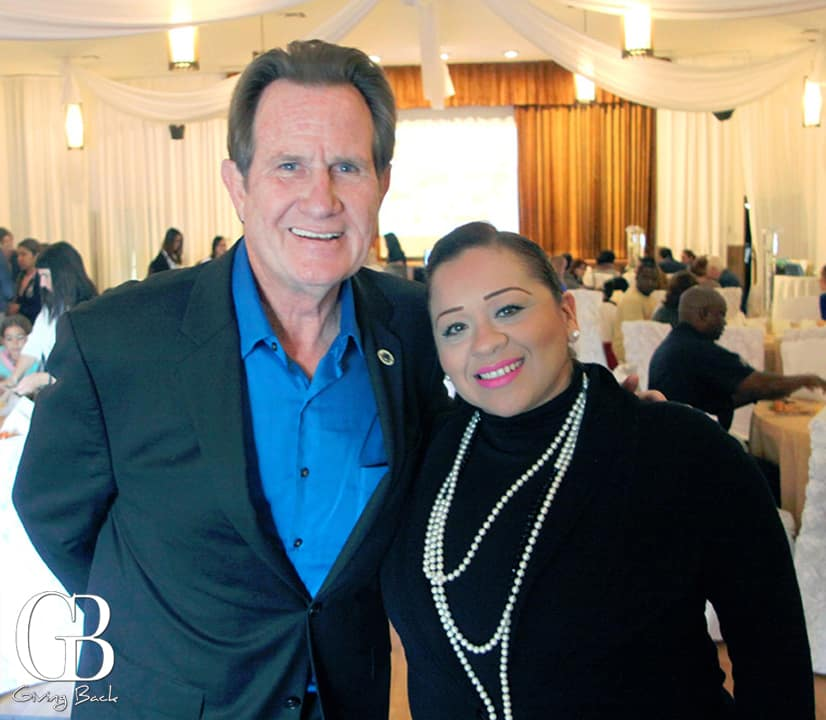 Mayor Ron Morrison and Claudia Murillo Morales