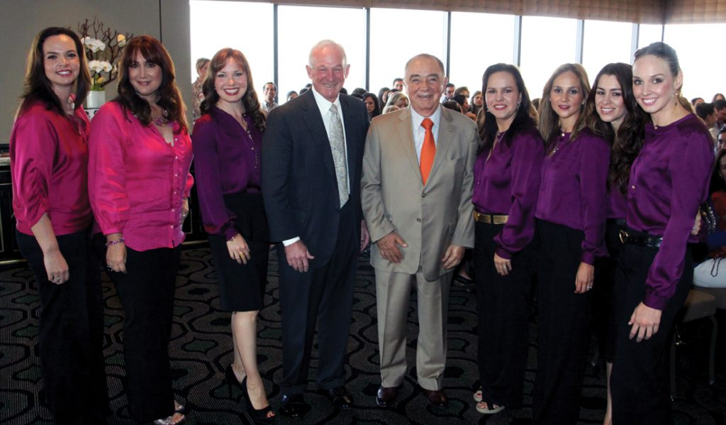 Mayors Jerry Sanders and Carlos Bustamante with the Foundation.JPG