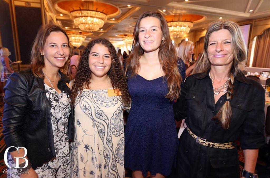 Mayte Soltero and Sofia Soltero with Nikki Schroeder and Marion Schroeder