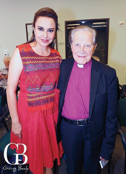 Mery Lopez Gallo and Monsignor Pedro Lopez Gallo