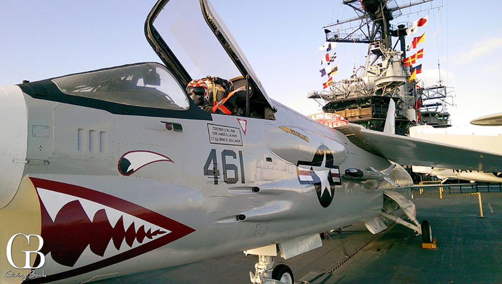 Meticulously restored aircraft aboard Midway