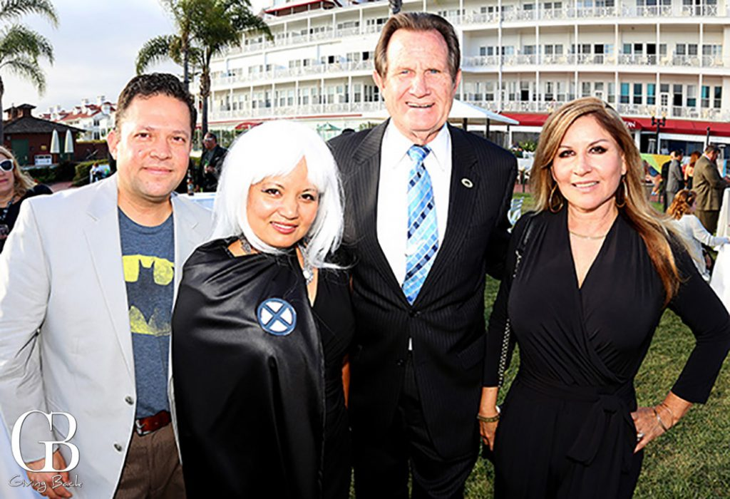 Michael and Clarissa Falcon with Mayor Ron Morrison and Josie Flores Clark