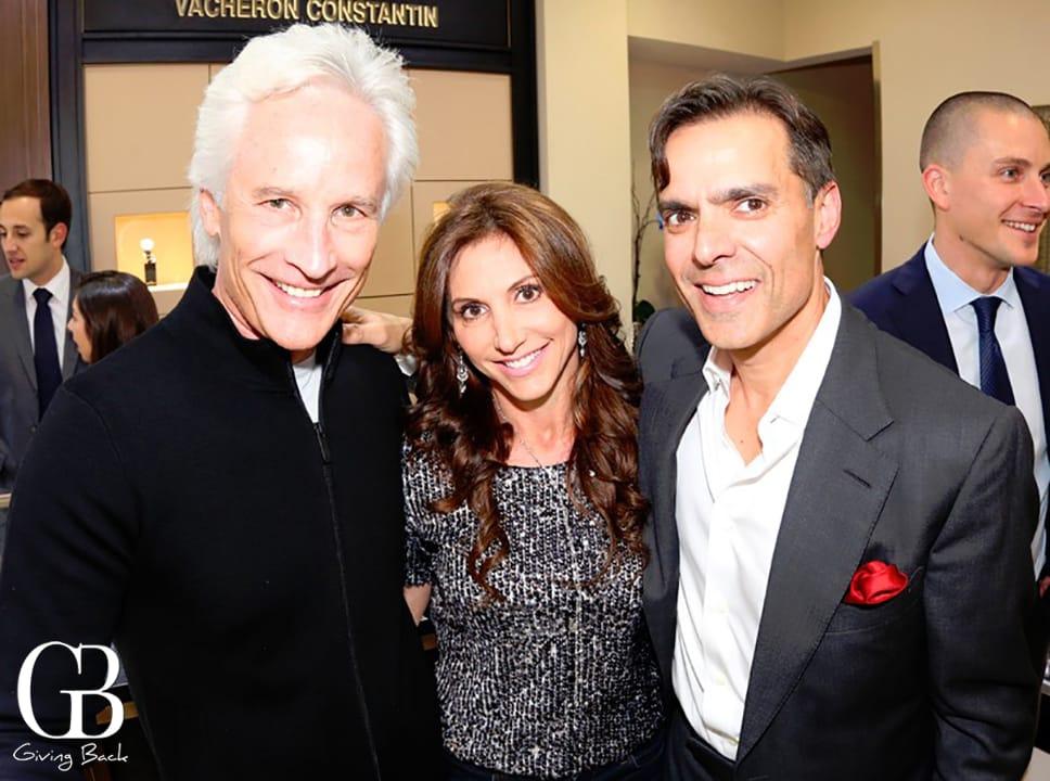 Michael and Jaki Sabourin with Vahid Moradi