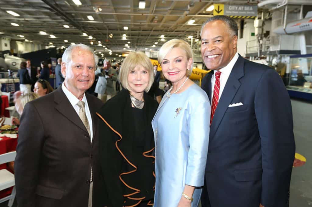 Michael and Margaret Grossman with Joye Blount and Jessie Knight