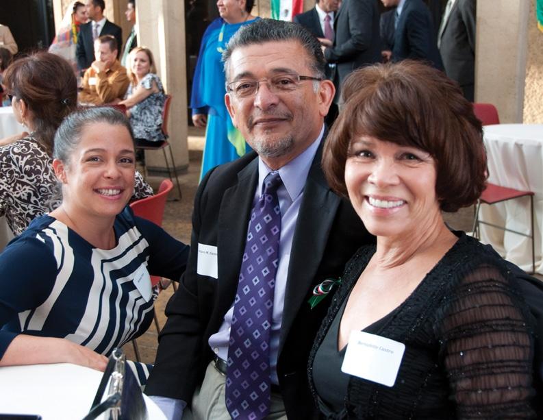 Michele Vives with Arturo and Bernadette Castro.JPG