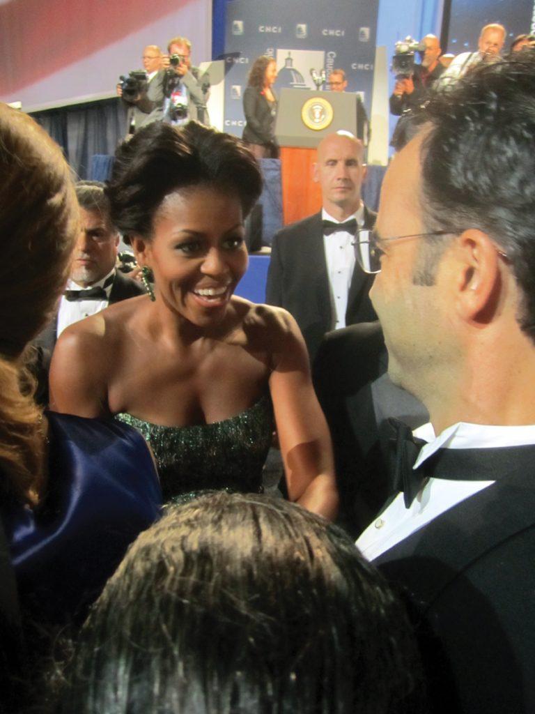 Michelle Obama with Esteban Villanueva.JPG