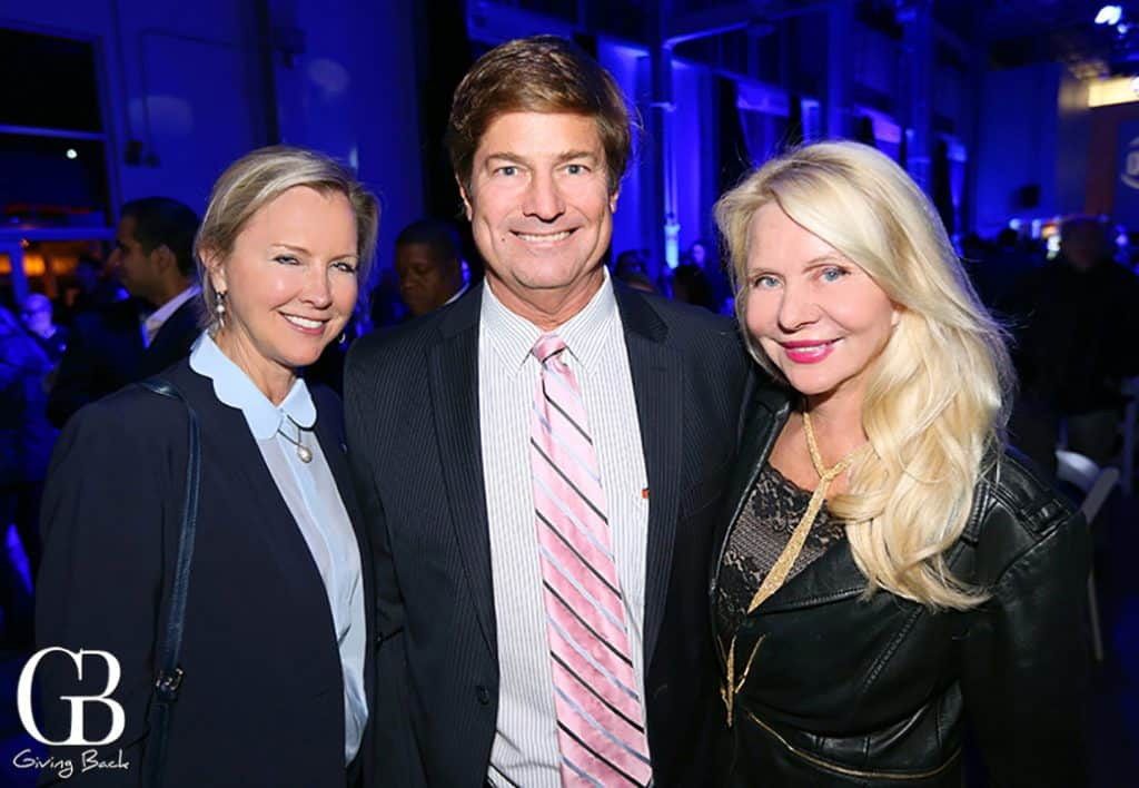 Micki Olin with Don and Kathryn Vaughn