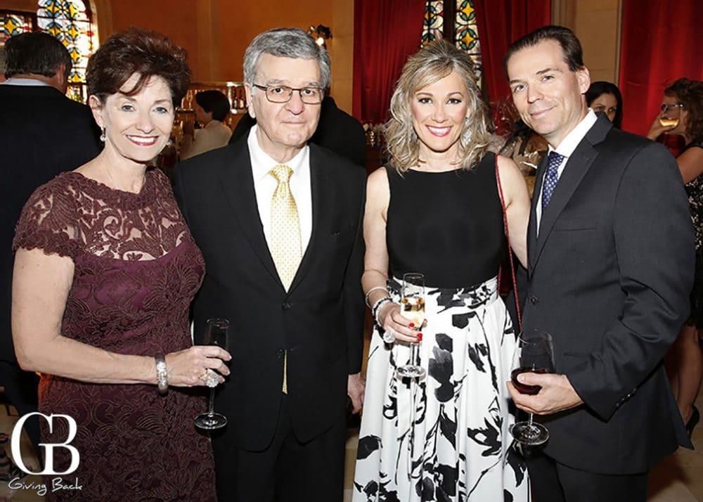 Mickie and Mike Villanueva with Christina and Jeff Bertrand