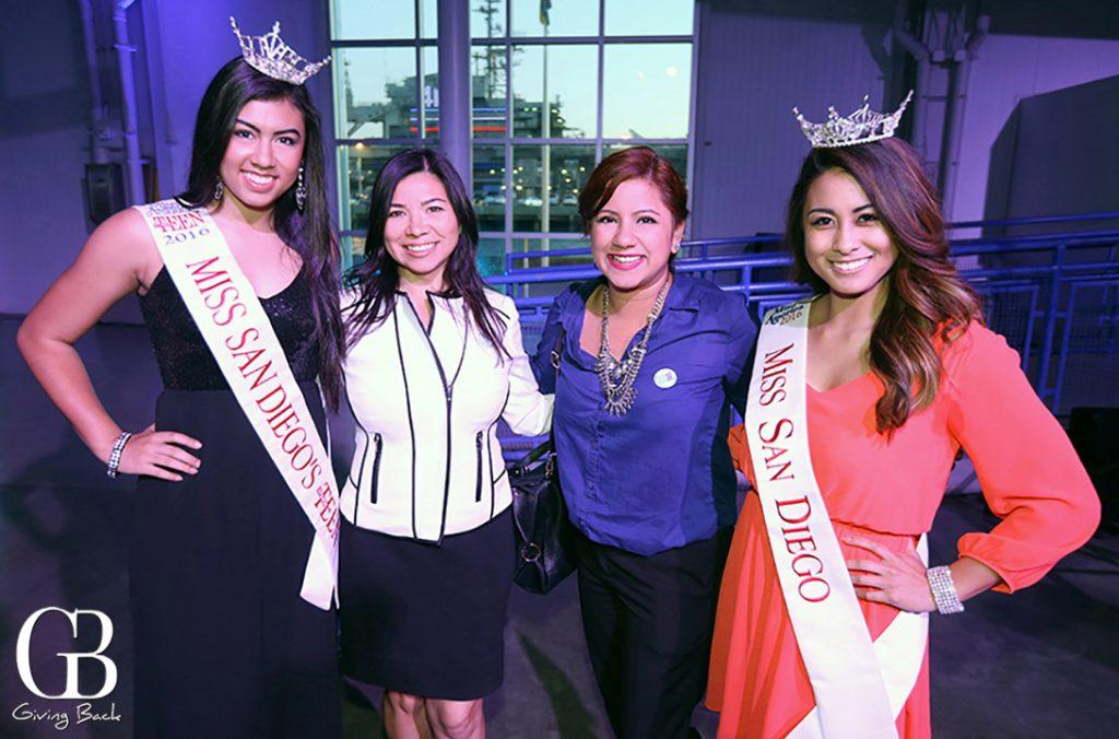 Miss San Diego Teen  Thalia Vendori. Patty Chavez  Liz Ramirez and Miss San Diego  Chelsea Magracia