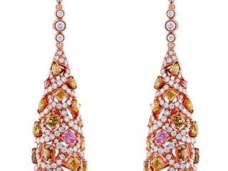 40efe2752fa3b6 Multi color Diamond Large Teardrop Earrings