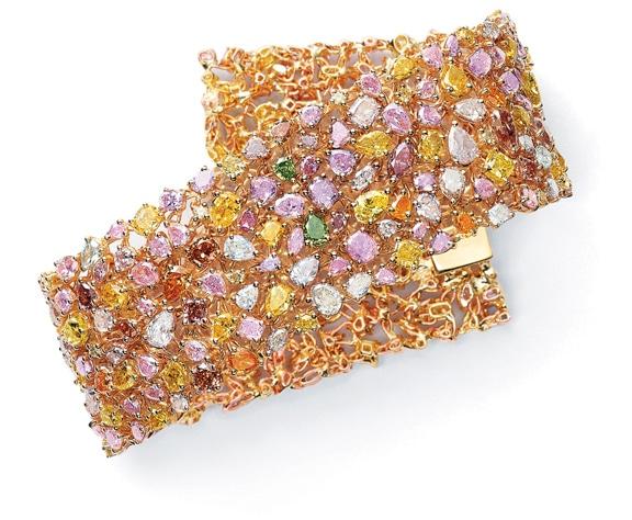 Multicolored Diamond Bracelet