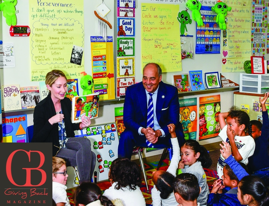 NUS Chancellor Cunningham visits Sanford Harmony Classroom