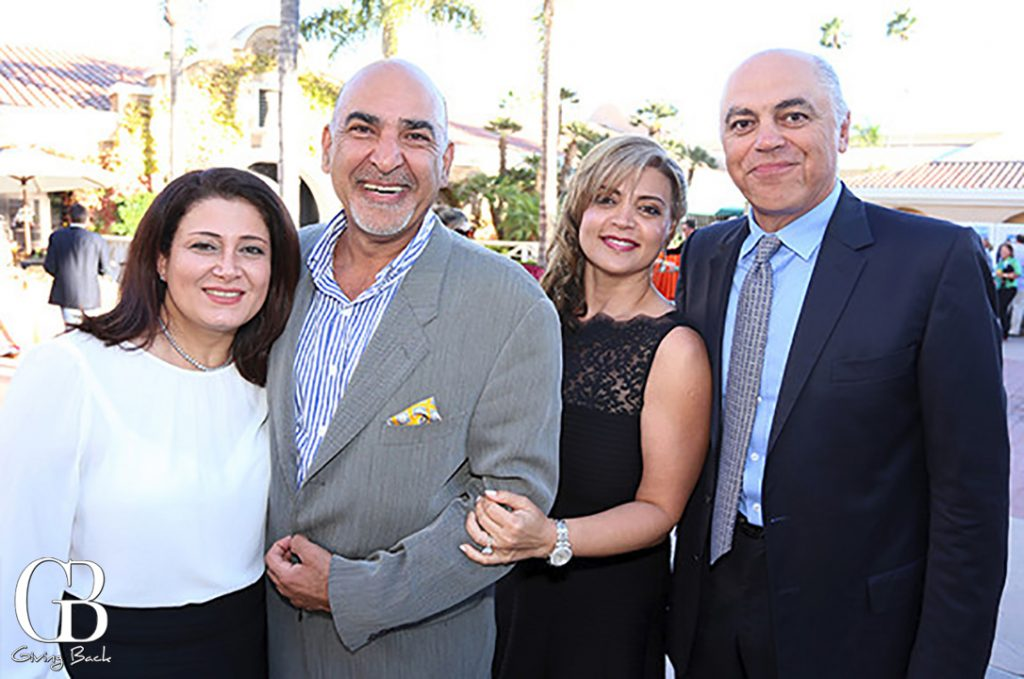 Nina and Moe Mayssani with Naji and Amir Moussavian