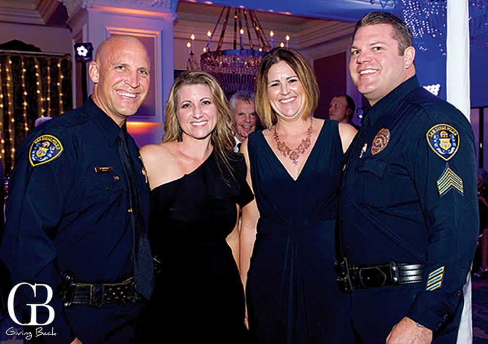 Officer Bobby and Molly Simpson with Dani and Officer Jake Resch
