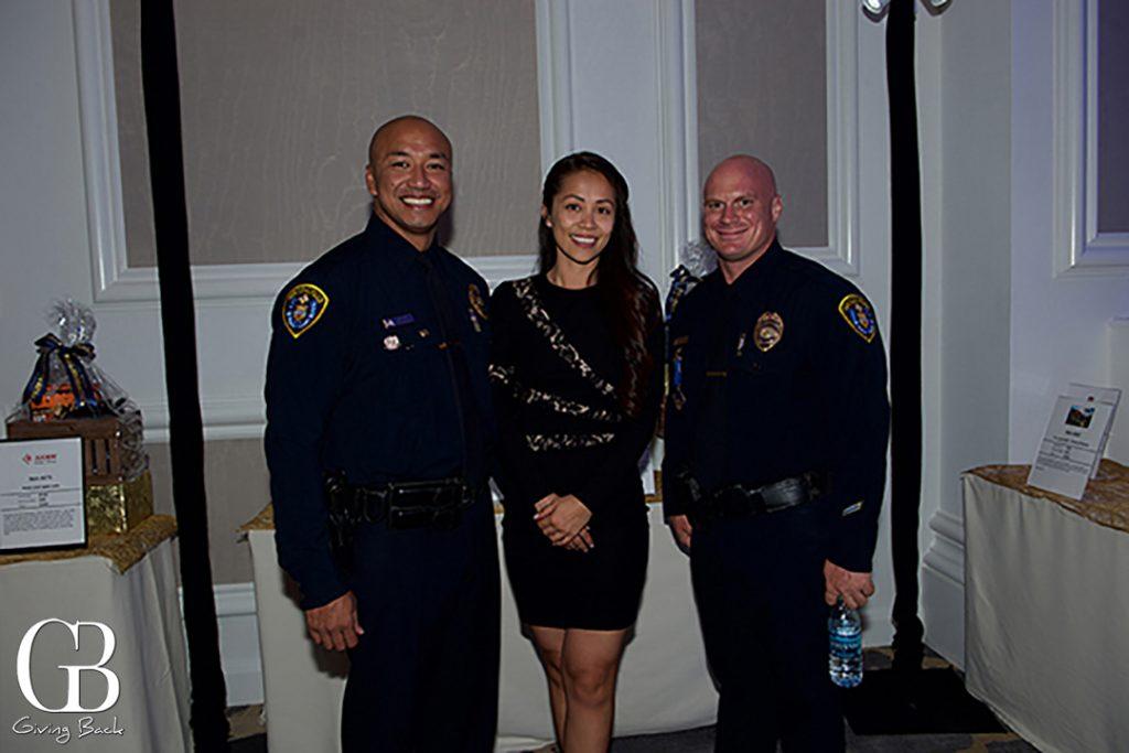 Officer Gerry Gapusan  Trang Pham and Officer Zach Pfannenstiel