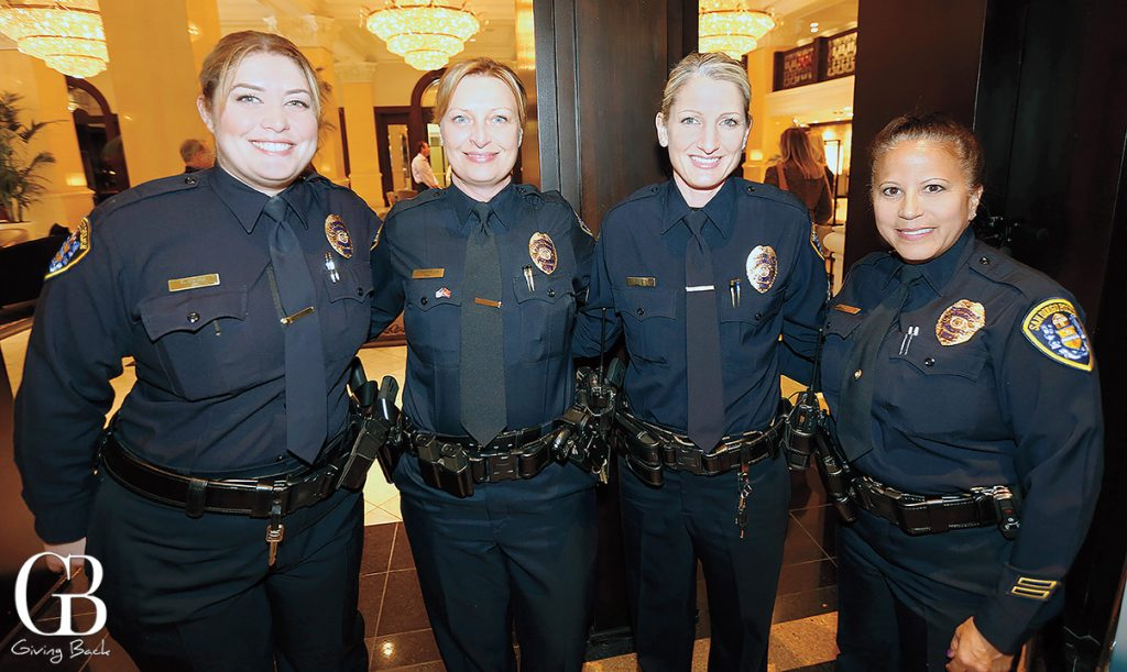 Officer Kimberly Norcia  Sergeant Tammy Clendenen  Detective Holy Tafoya and Officer Susie De la Pena