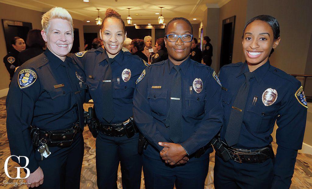 Officer Lisa Hartman  Officer Sherika Moore  Officer Akilah Coston and Officer Kristen Robinson