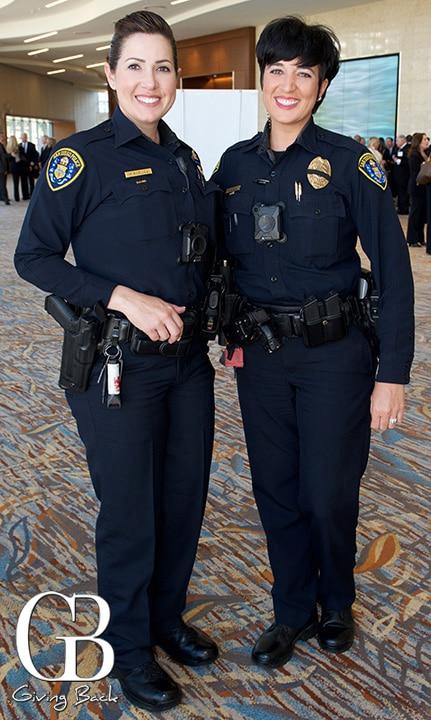 Officer Melanie Bognuda and Officer Angela Johnson