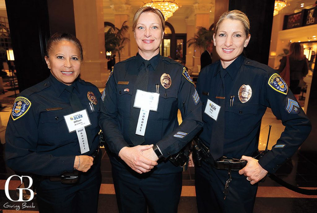 Officer Susie De la Pena  Sergeant Tammy Clendenen and Detective Holly Tafoya