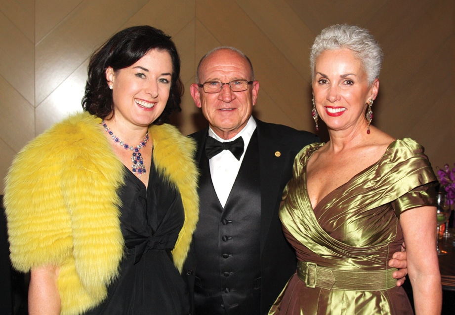 Olivia and Peter Farrell with Mary Drake.JPG