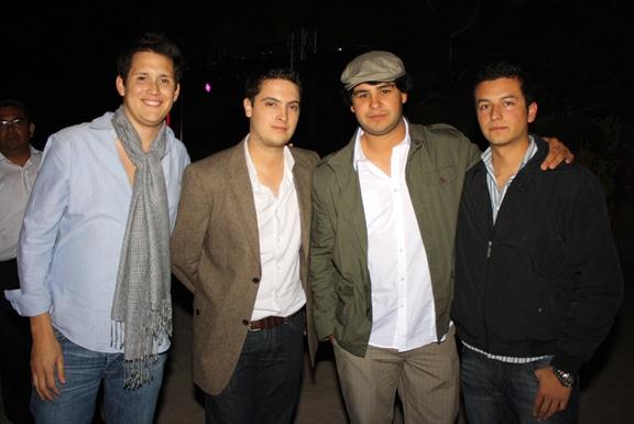 Pablo Arreola, Javier Hidalgo, Raul Falcon y Dario Gutierrez