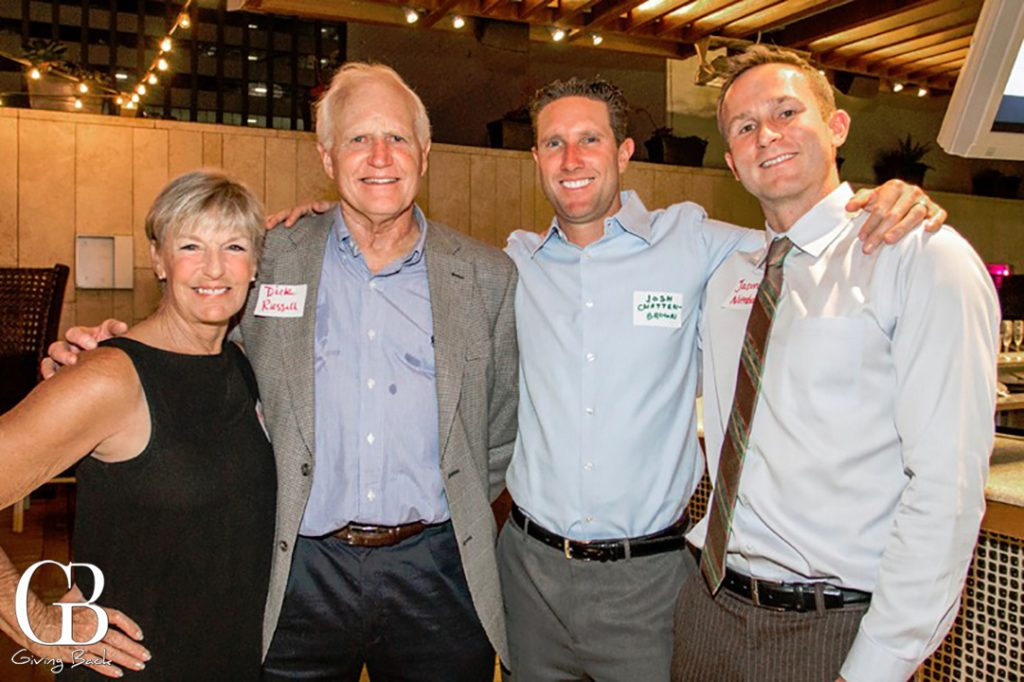 Patty and Dick Russell with Josh and Jason