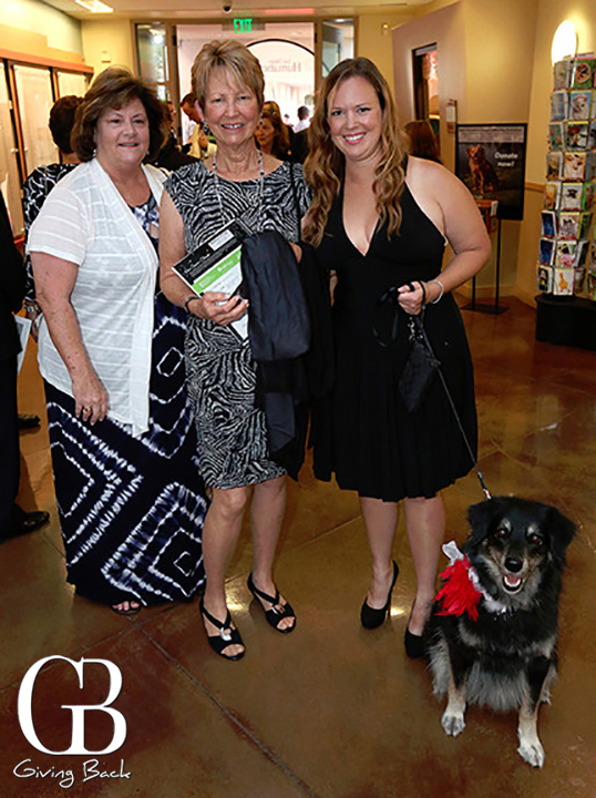 Penny Smith with Barbara and Jamie Lefleur with Cali