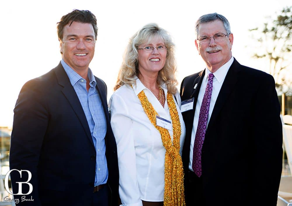 Pete Middleton with Paula and Chuck Day