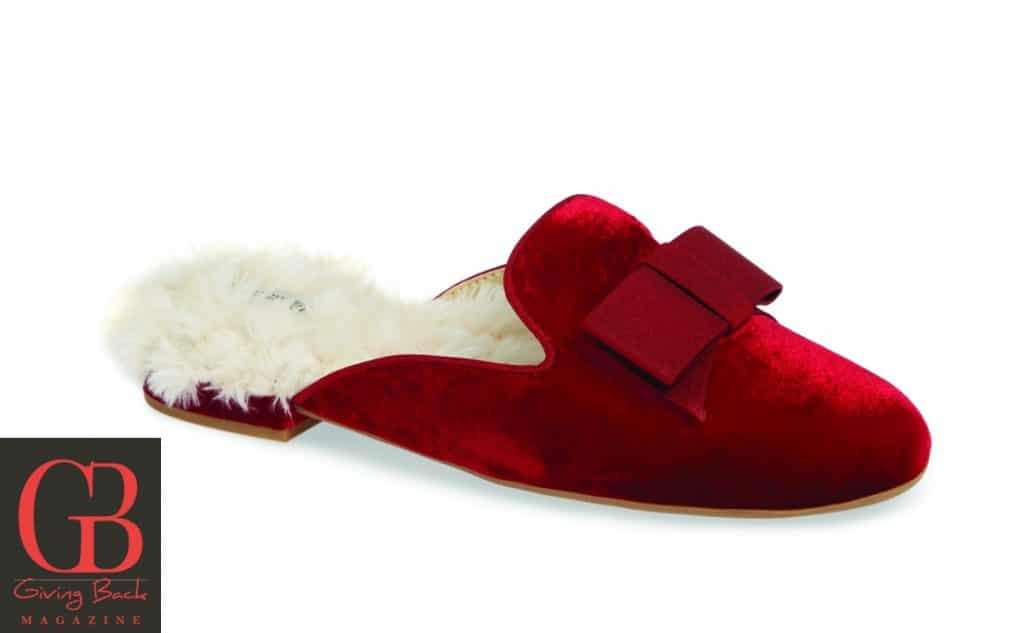 Phoebe Ruby Bow Slippers by Birdies