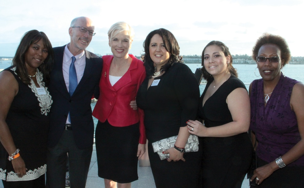 Planned Parenthood President Cecile Richards with supporters.JPG