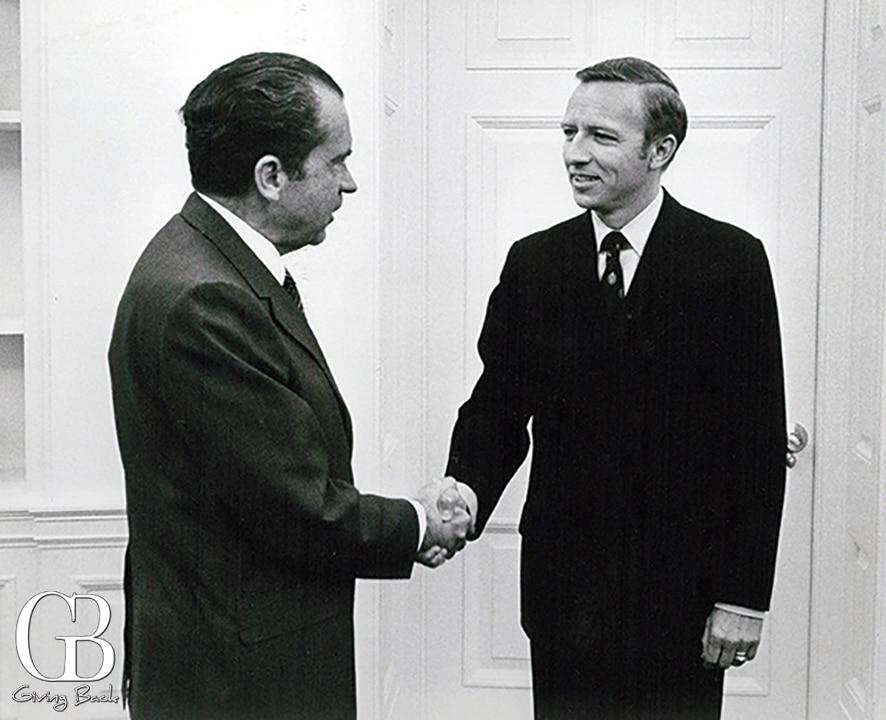 President Richard Nixon and Hudson Drake