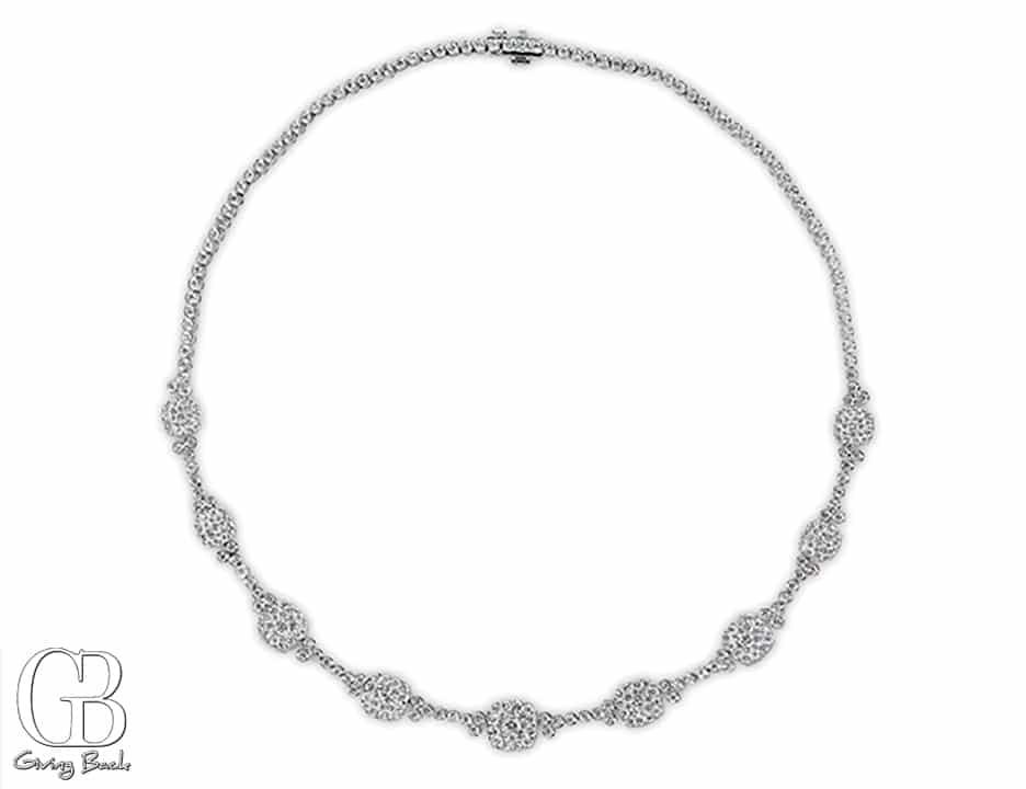 Pressure Set Diamond Necklace