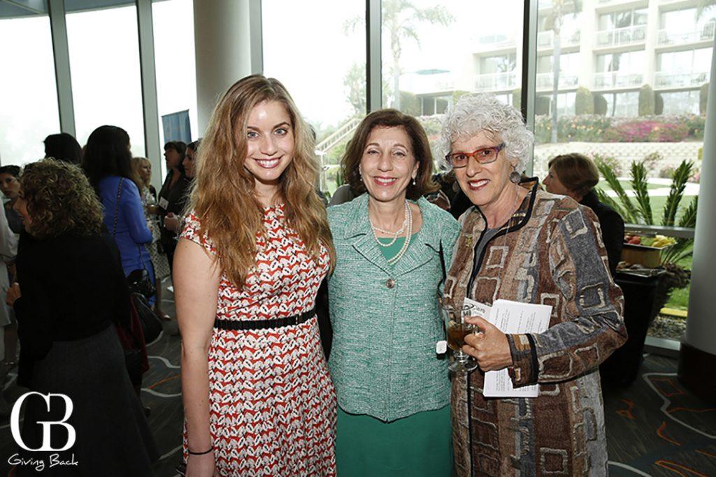 Rachel Kruer and Barbara Bry with Claire Ellman