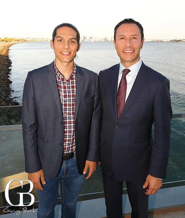 Raymond Velasquez and Chairman of the Port Rafael Castellanos