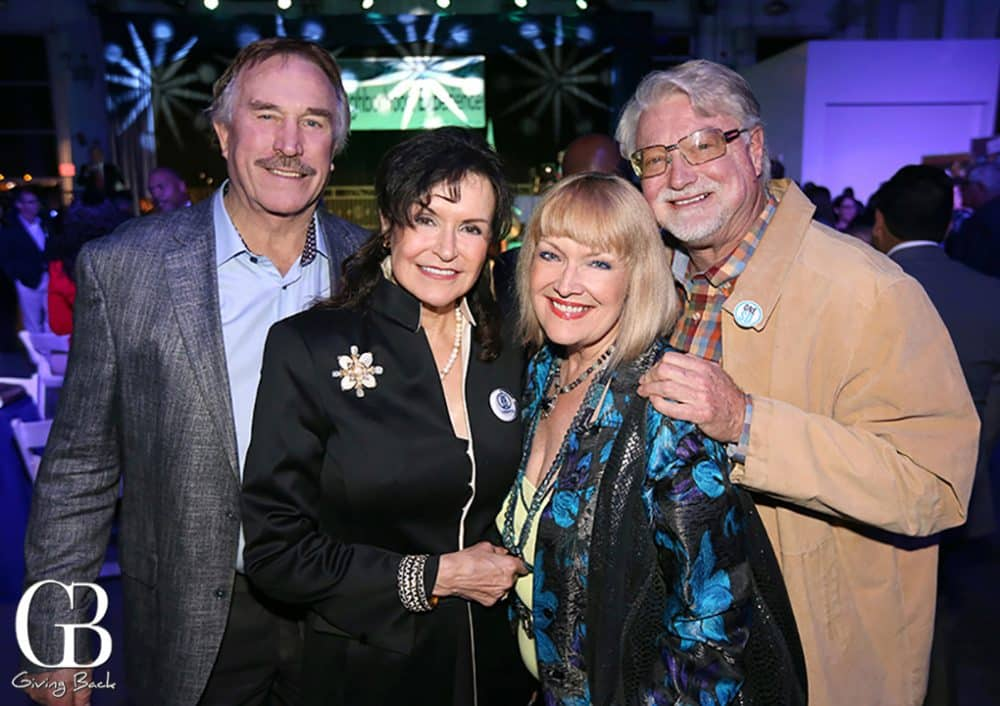 Richard and Arlene Esgate with Vicky and Chris Eddy