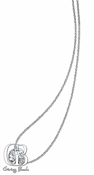 Riviera .ct Diamond Solitaire Necklace